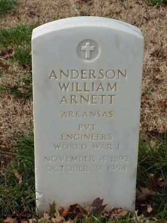 ARNETT (VETERAN WWI), ANDERSON WILLIAN - Pulaski County, Arkansas   ANDERSON WILLIAN ARNETT (VETERAN WWI) - Arkansas Gravestone Photos