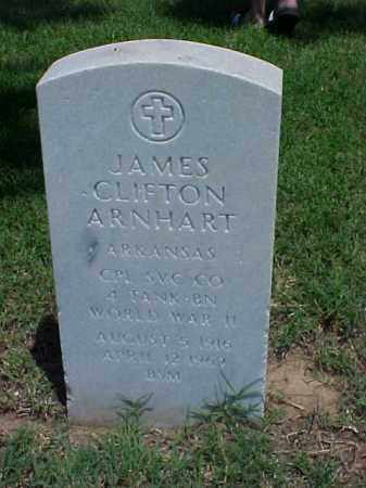 ARNHART (VETERAN WWII), JAMES CLIFTON - Pulaski County, Arkansas | JAMES CLIFTON ARNHART (VETERAN WWII) - Arkansas Gravestone Photos
