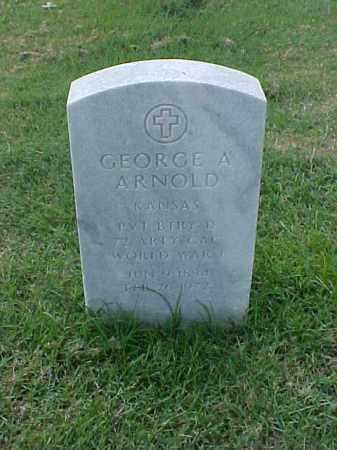 ARNOLD (VETERAN WWI), GEORGE ALEXANDER - Pulaski County, Arkansas | GEORGE ALEXANDER ARNOLD (VETERAN WWI) - Arkansas Gravestone Photos