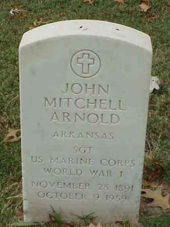 ARNOLD (VETERAN WWI), JOHN MITCHELL - Pulaski County, Arkansas | JOHN MITCHELL ARNOLD (VETERAN WWI) - Arkansas Gravestone Photos