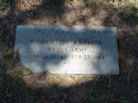 ARTHUR (VETERAN), ROBERT M - Pulaski County, Arkansas   ROBERT M ARTHUR (VETERAN) - Arkansas Gravestone Photos