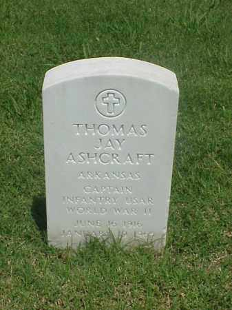 ASHCRAFT (VETERAN WWII), THOMAS JAY - Pulaski County, Arkansas | THOMAS JAY ASHCRAFT (VETERAN WWII) - Arkansas Gravestone Photos