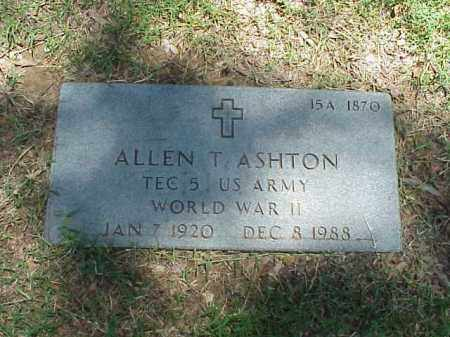 ASHTON (VETERAN WWII), ALLEN T - Pulaski County, Arkansas | ALLEN T ASHTON (VETERAN WWII) - Arkansas Gravestone Photos