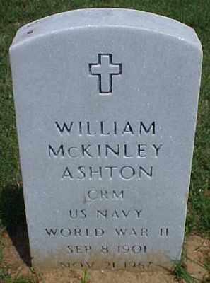 ASHTON (VETERAN WWII), WILLIAM MCKINLEY - Pulaski County, Arkansas | WILLIAM MCKINLEY ASHTON (VETERAN WWII) - Arkansas Gravestone Photos