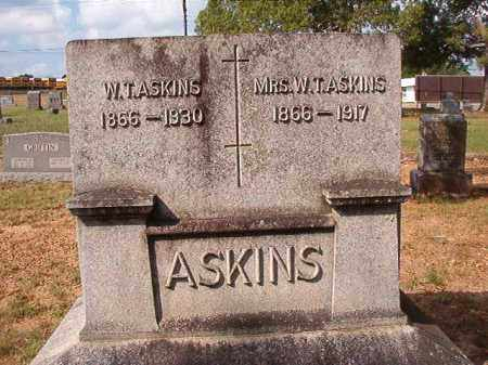 ASKINS, W T - Pulaski County, Arkansas | W T ASKINS - Arkansas Gravestone Photos