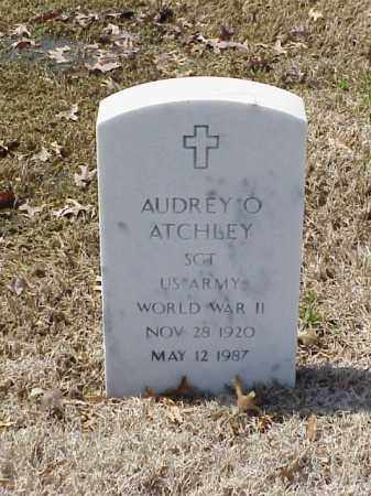 ATCHLEY (VETERAN WWII), AUDREY O - Pulaski County, Arkansas | AUDREY O ATCHLEY (VETERAN WWII) - Arkansas Gravestone Photos