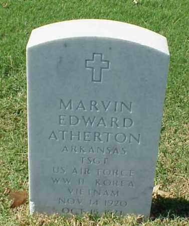 ATHERTON (VETERAN 3WARS), MARVIN EDWARD - Pulaski County, Arkansas   MARVIN EDWARD ATHERTON (VETERAN 3WARS) - Arkansas Gravestone Photos