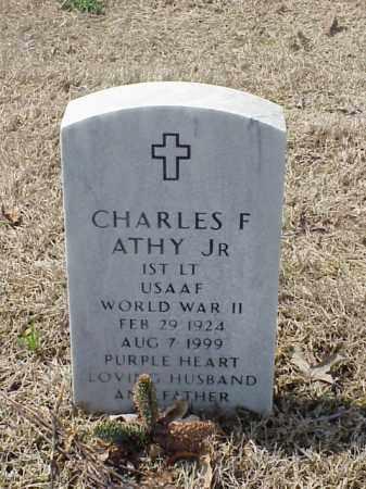 ATHY, JR (VETERAN WWII), CHARLES F - Pulaski County, Arkansas | CHARLES F ATHY, JR (VETERAN WWII) - Arkansas Gravestone Photos