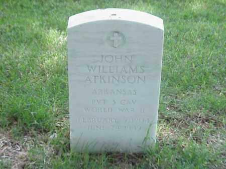 ATKINSON (VETERAN WWII), JOHN WILLIAMS - Pulaski County, Arkansas   JOHN WILLIAMS ATKINSON (VETERAN WWII) - Arkansas Gravestone Photos