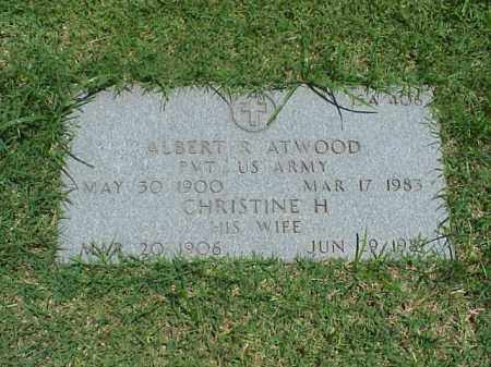 ATWOOD, CHRISTINE H - Pulaski County, Arkansas | CHRISTINE H ATWOOD - Arkansas Gravestone Photos
