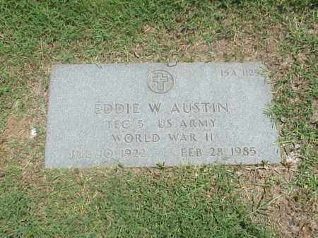 AUSTIN (VETERAN WWII), EDDIE W - Pulaski County, Arkansas | EDDIE W AUSTIN (VETERAN WWII) - Arkansas Gravestone Photos