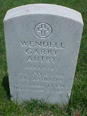 AUTRY (VETERAN), WENDELL GARRY - Pulaski County, Arkansas | WENDELL GARRY AUTRY (VETERAN) - Arkansas Gravestone Photos