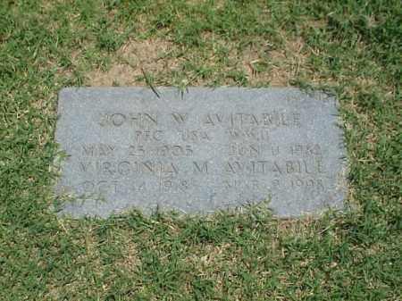 AVITABILE (VETERAN WWII), JOHN W - Pulaski County, Arkansas   JOHN W AVITABILE (VETERAN WWII) - Arkansas Gravestone Photos