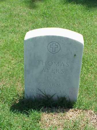 AYERS (VETERAN WWII), THOMAS - Pulaski County, Arkansas | THOMAS AYERS (VETERAN WWII) - Arkansas Gravestone Photos
