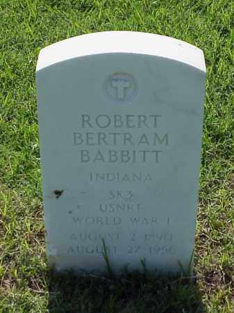 BABBITT (VETERAN WWI), ROBERT BERTRAM - Pulaski County, Arkansas | ROBERT BERTRAM BABBITT (VETERAN WWI) - Arkansas Gravestone Photos