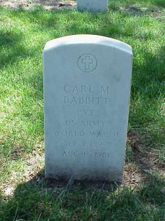 BABBITT (VETERAN WWII), CARL M - Pulaski County, Arkansas   CARL M BABBITT (VETERAN WWII) - Arkansas Gravestone Photos