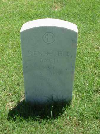 BACH (VETERAN 2WARS), KENNETH B - Pulaski County, Arkansas | KENNETH B BACH (VETERAN 2WARS) - Arkansas Gravestone Photos