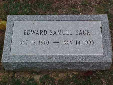 BACK, EDWARD SAMUEL - Pulaski County, Arkansas   EDWARD SAMUEL BACK - Arkansas Gravestone Photos