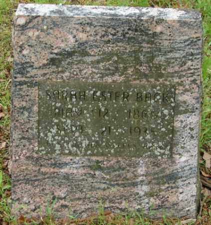 BACK, SARAH ESTER - Pulaski County, Arkansas | SARAH ESTER BACK - Arkansas Gravestone Photos
