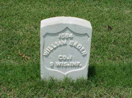 BADEN (VETERAN UNION), WILLIAM - Pulaski County, Arkansas | WILLIAM BADEN (VETERAN UNION) - Arkansas Gravestone Photos