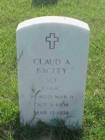 BAGLEY (VETERAN WWII), CLAUD A - Pulaski County, Arkansas   CLAUD A BAGLEY (VETERAN WWII) - Arkansas Gravestone Photos
