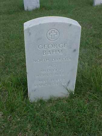 BAHM (VETERAN WWI), GEORGE - Pulaski County, Arkansas   GEORGE BAHM (VETERAN WWI) - Arkansas Gravestone Photos