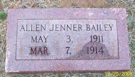 BAILEY, ALLEN JENNER - Pulaski County, Arkansas   ALLEN JENNER BAILEY - Arkansas Gravestone Photos