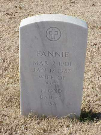 BAILEY, FANNIE - Pulaski County, Arkansas | FANNIE BAILEY - Arkansas Gravestone Photos