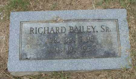 BAILEY, SR., RICHARD - Pulaski County, Arkansas | RICHARD BAILEY, SR. - Arkansas Gravestone Photos