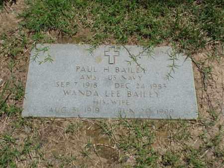 BAILEY (VETERAN 2WARS), PAUL H - Pulaski County, Arkansas | PAUL H BAILEY (VETERAN 2WARS) - Arkansas Gravestone Photos