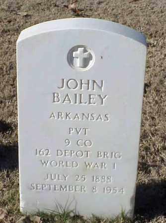 BAILEY (VETERAN WWI), JOHN - Pulaski County, Arkansas | JOHN BAILEY (VETERAN WWI) - Arkansas Gravestone Photos