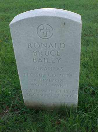 BAILEY (VETERAN WWI), RONALD BRUCE - Pulaski County, Arkansas | RONALD BRUCE BAILEY (VETERAN WWI) - Arkansas Gravestone Photos