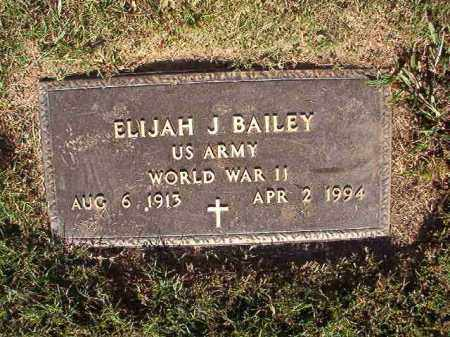 BAILEY (VETERAN WWII), ELIJAH J - Pulaski County, Arkansas | ELIJAH J BAILEY (VETERAN WWII) - Arkansas Gravestone Photos