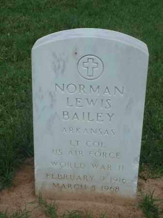 BAILEY (VETERAN WWII), NORMAN LEWIS - Pulaski County, Arkansas | NORMAN LEWIS BAILEY (VETERAN WWII) - Arkansas Gravestone Photos