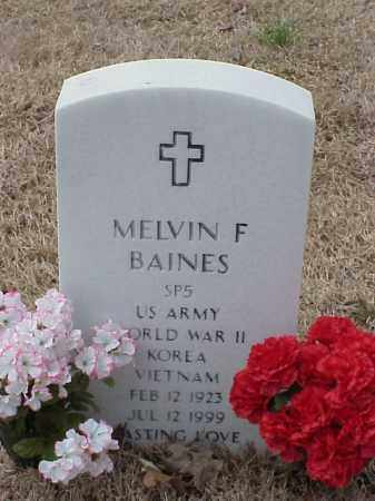 BAINES  (VETERAN 3WARS), MELVIN F - Pulaski County, Arkansas | MELVIN F BAINES  (VETERAN 3WARS) - Arkansas Gravestone Photos