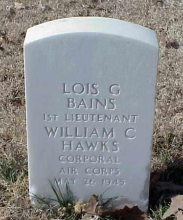 BAINS (VETERAN WWII), LOIS G - Pulaski County, Arkansas | LOIS G BAINS (VETERAN WWII) - Arkansas Gravestone Photos