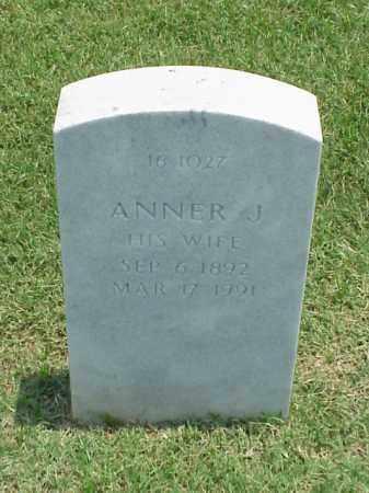 BAKER, ANNER J - Pulaski County, Arkansas   ANNER J BAKER - Arkansas Gravestone Photos