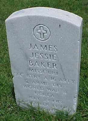 BAKER (VETERAN 2WARS), JAMES JESSIE - Pulaski County, Arkansas | JAMES JESSIE BAKER (VETERAN 2WARS) - Arkansas Gravestone Photos