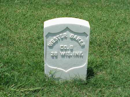 BAKER (VETERAN UNIION), WESTER - Pulaski County, Arkansas   WESTER BAKER (VETERAN UNIION) - Arkansas Gravestone Photos
