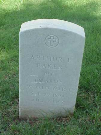 BAKER (VETERAN WWI), ARTHUR E - Pulaski County, Arkansas   ARTHUR E BAKER (VETERAN WWI) - Arkansas Gravestone Photos