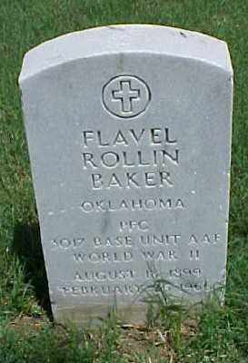 BAKER (VETERAN WWII), FLAVEL ROLLIN - Pulaski County, Arkansas   FLAVEL ROLLIN BAKER (VETERAN WWII) - Arkansas Gravestone Photos