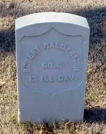 BALDERSTON (VETERAN UNION), ROBERT - Pulaski County, Arkansas   ROBERT BALDERSTON (VETERAN UNION) - Arkansas Gravestone Photos