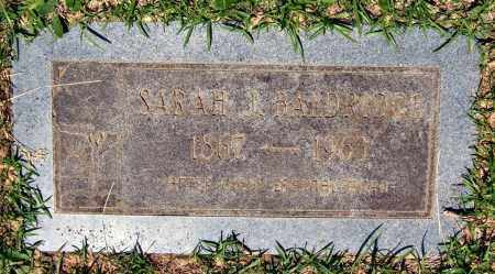 BALDRIDGE, SARAH J. - Pulaski County, Arkansas | SARAH J. BALDRIDGE - Arkansas Gravestone Photos