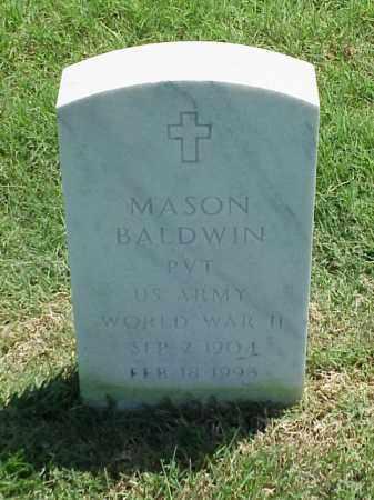BALDWIN (VETERAN WWII), MASON - Pulaski County, Arkansas   MASON BALDWIN (VETERAN WWII) - Arkansas Gravestone Photos