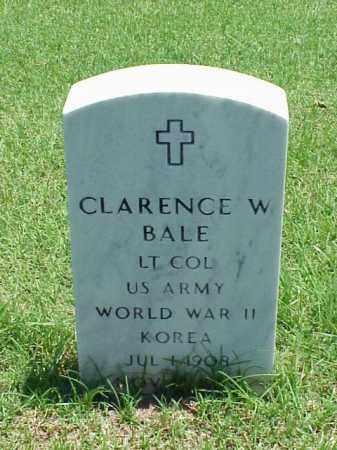 BALE (VETERAN 2WARS), CLARENCE W - Pulaski County, Arkansas | CLARENCE W BALE (VETERAN 2WARS) - Arkansas Gravestone Photos
