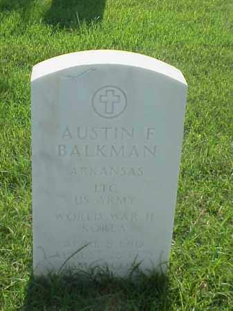 BALKMAN (VETERAN 2WARS), AUSTIN F - Pulaski County, Arkansas | AUSTIN F BALKMAN (VETERAN 2WARS) - Arkansas Gravestone Photos
