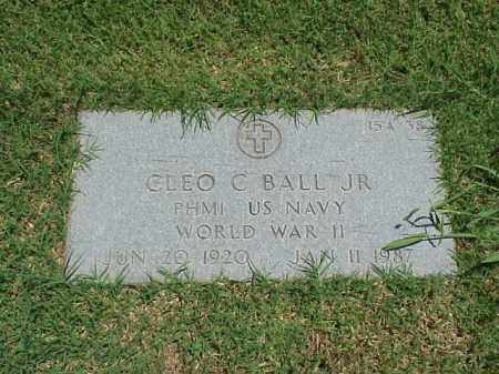 BALL, JR (VETERAN WWII), CLEO C - Pulaski County, Arkansas | CLEO C BALL, JR (VETERAN WWII) - Arkansas Gravestone Photos