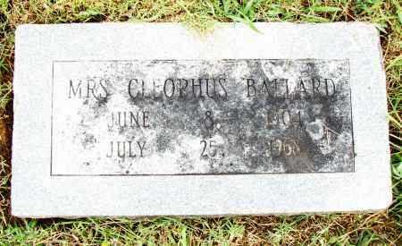 BALLARD, MRS. CLEOPHUS - Pulaski County, Arkansas | MRS. CLEOPHUS BALLARD - Arkansas Gravestone Photos