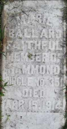 BALLARD, MARIE - Pulaski County, Arkansas | MARIE BALLARD - Arkansas Gravestone Photos