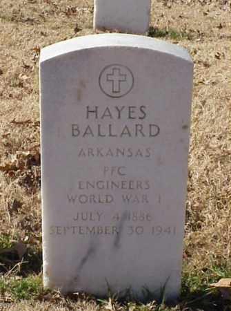 BALLARD (VETERAN WWI), HAYES - Pulaski County, Arkansas   HAYES BALLARD (VETERAN WWI) - Arkansas Gravestone Photos